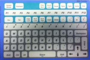 IBM QWERTY Overlay for IntelliKeys