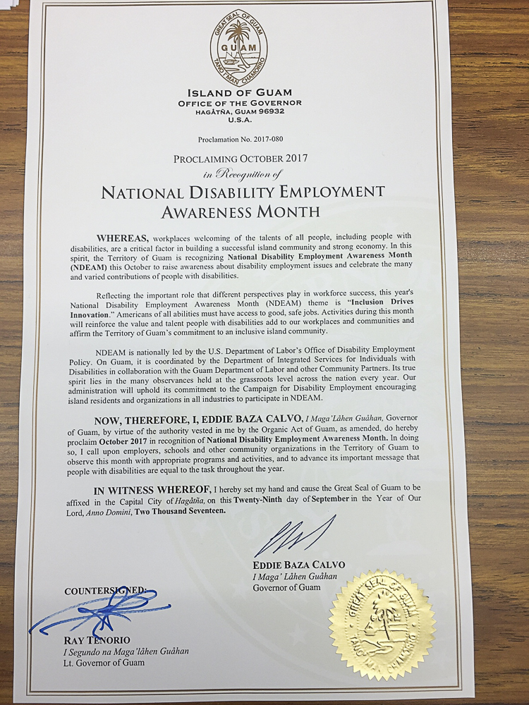 National Disability Employment Month Proclamation